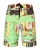 Mens Swim Trunks, Quick Dry Swimming Trucks for Men, Big and Tall Beach Shorts for Mens Swimwear,size 46,Green
