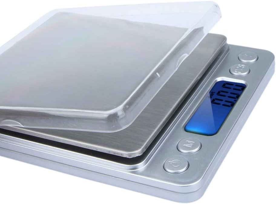 Bomcomi WH-I2000 300g//500g x 0.01g 2000g x 0.1g Scale300g//500g x 0.01g Digital Platform Jewelry Scales High Accuracy Electronic Kitchen Scale With 2 Tray