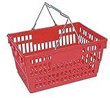 "Winholt LSB-1RD Customer Shopping Super Sani-Basket, 13"" x 19"" x 10"" Size, Red"