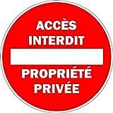 Autocollant sticker maison residence acces interdit propriete privee panneau