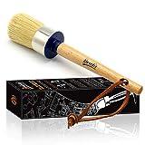 BRIETIS Chalk Paint Wax Brush | Premium Boar Bristles, Smooth Coverage with Annie