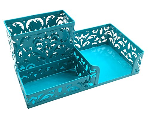 EasyPAG Desk Organizer 3 Compartment Office Supplies Caddy,Dark Teal