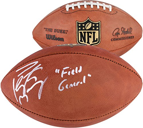 Peyton Manning Denver Broncos Autographed Duke Football with Field General Inscription - Fanatics Authentic (Peyton Manning Signed Authentic Football)