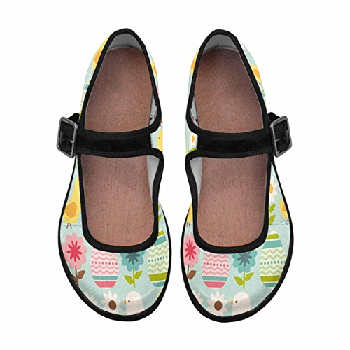 Mary Flats Jane Walking Womens Multi Casual 6 Shoes Comfort InterestPrint xBfwIqOq