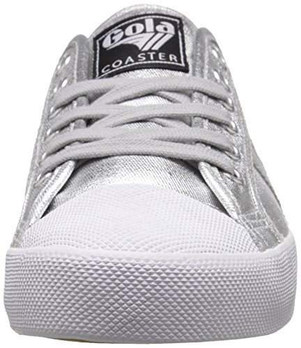 Gola Women's Coaster Metallic Fashion Sneaker Silver/Silver choice clearance shop Oh5YPV
