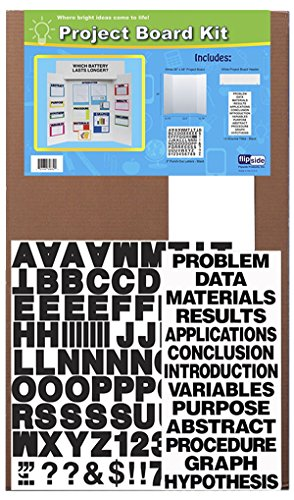 (Flipside Project Board Kit with Black Letters and Titles, 36 x 48 Inches, White)