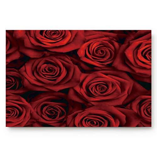 - ALAGO Red Roses Flowers Doormats Entrance Front Door Rug Outdoors/Indoor/Bathroom/Kitchen/Bedroom/Entryway Floor Mats,Non-Slip Rubber Low-Profile 23.6 x 15.7
