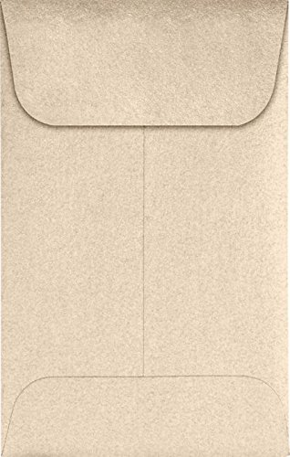 #1 Coin Envelopes (2 1/4 x 3 1/2) – Taupe Metallic (250 Qty.) | Perfect for the HOLIDAYS, Weddings, Parties & Place Cards | Fits Small Parts, Stamps, Jewelry, Seeds | 1CO-M09-250