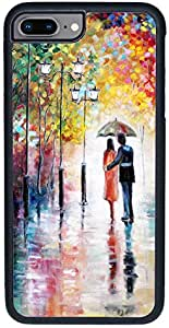 Decalac iPhone 8 Plus Case, Design Of Paintings For A Couple Under The Rain