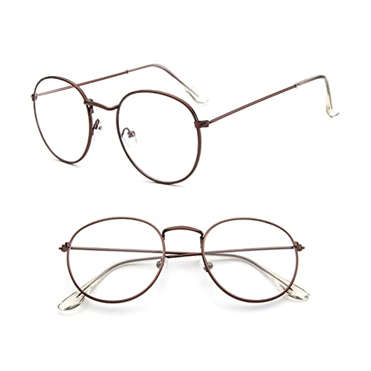 bf576d76ac4 Amazon.com  Misright Vintage Men Women Eyeglass Metal Frame Glasses Round  Spectacles Clear Lens Optical (Bronze)  Health   Personal Care