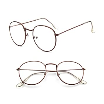 6c96f4109f2 Image Unavailable. Image not available for. Color  Misright Vintage Men  Women Eyeglass Metal Frame Glasses Round Spectacles ...