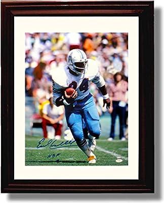 "Framed Earl Campbell - Houston Oilers ""HOF"" Autograph Replica Print"