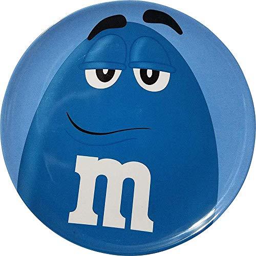M&M'S BLUE CHARACTER BIG FACE MELAMINE DINNER PLATE.