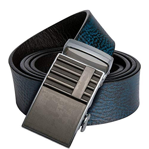 Genuine Leather Belt Alloy Automatic Buckle Luxury Belt Fashion Brown And Blue Waist Belt For Men,DK-0080-DG-E,130cm