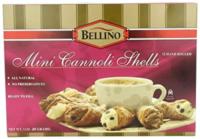 Bellino - Hand Rolled Mini Cannoli Shells, (3)- 3 oz. Boxes