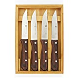 Zwilling J.A. Henckels 4-Piece Steakhouse Steak Knife Set with Wood Box