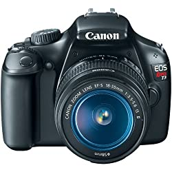 Canon EOS Rebel T3 12.2 MP CMOS Digital SLR with 18-55mm IS II Lens and EOS HD Movie Mode (Black) from Canon