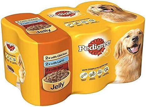Pedigree Carne de lata de perro en gelatina, 6 x 385 g ...
