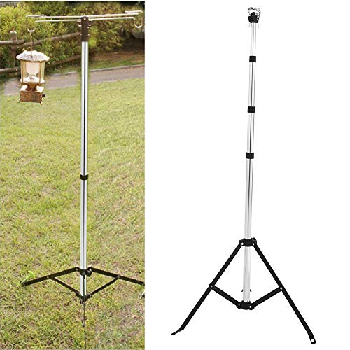 Estink Lantern Stand,Aluminium Alloy Outdoor Light Lantern Folding Tripod Stand for Camping Hiking Garden BBQ etc (Lantern Stand)