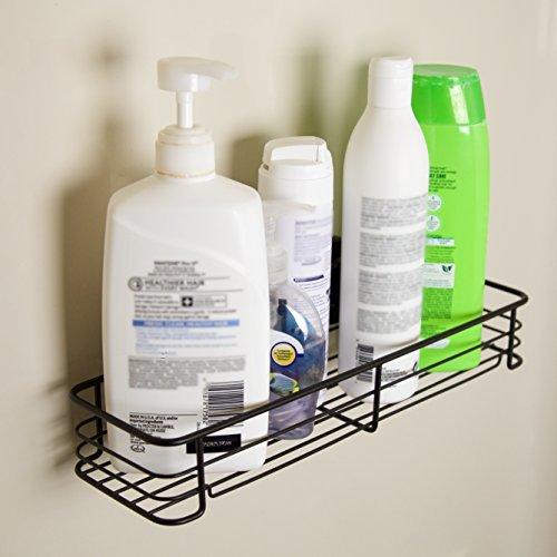 Beautiful Suction Cup Bath Towel Rails Shelf Rack Holder Bar Bathroom Storage