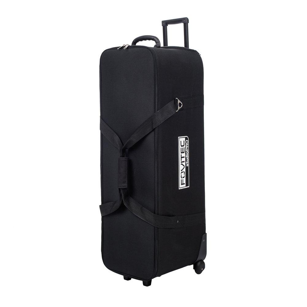 "Fovitec - 1x Classic Photography & Video Lighting Equipment Roller Bag - [40"" x 13"" x 15""][EZ Glide Wheels][Durable Nylon][Retractable Handle]"