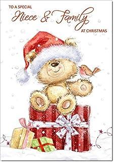Merry Christmas Niece.Merry Christmas Niece Family Cute Greeting Card Words