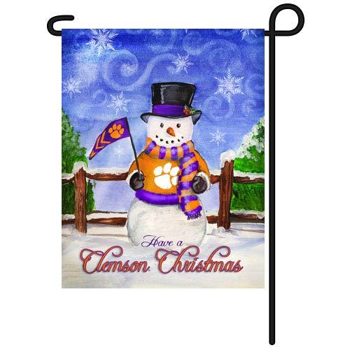 NCAA Clemson TigersクリスマスHoliday Garden Flag   B00O2H9H6U