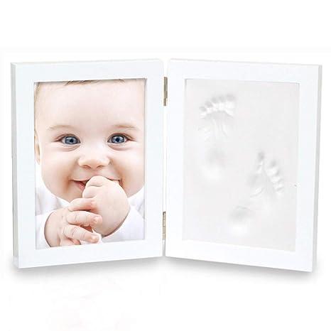 KBstore Marco de Fotos para Bebe de Huellas y Handprint ...