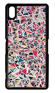 Sony Xperia Z2 Case PC Customized Unique Print Design Colorful Shape Case Cover For Sony Xperia Z2