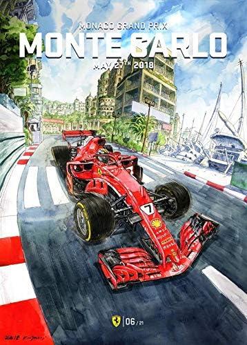 Import Posters Formula One Racing Monaco Gp Ferrari F1 Team Wall Print 30cm X 43cm Monte Carlo Amazon De Küche Haushalt