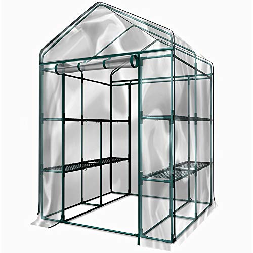 STS SUPPLIES LTD Green House Indoor Shelves Trays Pots Plants Gardener Outdoor Use Backyard Patio Garage Basement PVC Cover Zip Ties Rope Anchors & eBook by MSS