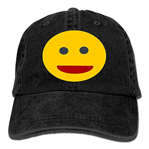 PILLO Smilie Laugh Smiley Funny Yellow Smile Denim Hat Adjustable Mens Casual Baseball Caps