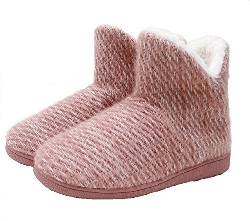 Elais J Womens Mohair Faux Fur Clog, Pantofole Memory Foam Interna Pnk-ff