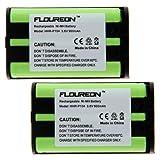 Floureon 2 Packs Home Phone Battery For Panasonic KX-TG2388, KX-TG2480, KX-TG4500, KX-TG5050, KX-TG5055, KX-TG5200, KX-TG5202, KX-TG5210, KX-TG5212, KX-TG5213, KX-TG5230, KX-TG5240, KX-TG2313W, KX-TG2314B, KX-TG2314S, KX-TG2314W, KX-TG2322B, KX-TG2322S, KX-TG2322W, KX-TG2336B, KX-TG2336S, KX-TG2336W, KX-TG2343B, Office Central