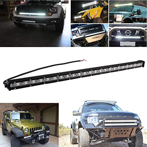 CarBole 25 Inch 72W Spot LED Light Work Fog Driving ()