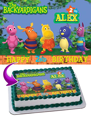 The Backyardigans Edible Image Cake Topper Personalized Icing Sugar Paper A4 Sheet Edible Frosting Photo Cake 1/4 ~ Best Quality Edible Image for cake
