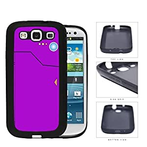 Pokedex Pocket Monsters Violet Hard Silicone PC Cell Phone Case Samsung Galaxy S3 SIII I9300
