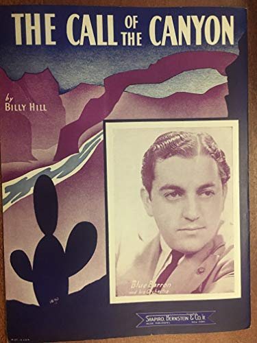 Canyon Sheet Music - CALL OF THE CANYON (Eddie Heywood 1956 SHEET MUSIC) EXCELLENT CONDITION featured by BLUE BARRON (pictured)