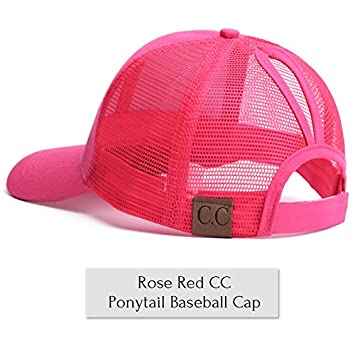 62984d83ba6 Amazon.com  Gold Happy CC Glitter Ponytail Baseball Cap Women Messy Bun  Baseball Cap Girls Snapback Caps Summer Sports Mesh Hats  Kitchen   Dining