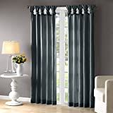 Cheap Teal Curtains For Living room, Transitional Fabric Curtains For Bedroom, Emilia Solid Window Curtains, 50X84, 1-Panel Pack