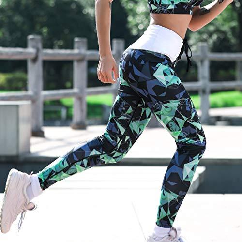 Pantalones Leggins Verde De Leggings Legging Vectry Deporte Mujer Yoga Vestir q5BandR