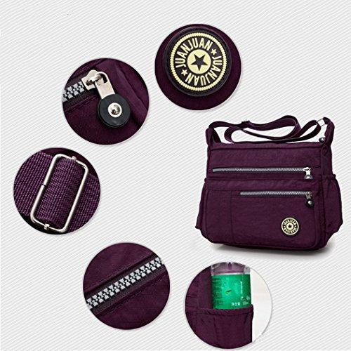 Handbag Purple Bag Cross Deep Ladies Body Shoulder Bag Messenger FUNOC Hobo Tote Women q7XFwp