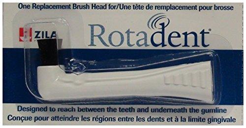 RotaDent Legacy/Classic Brush Heads Flat Hollow Tip ()
