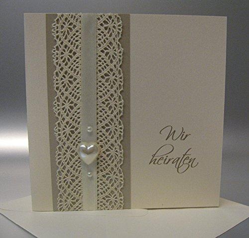 Hochzeitseinladungen Vintage 10 Stuck Incl Umschlag Und