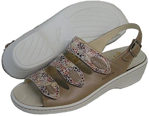 Fidelio Kvinnor Mjuk-line Glid Sandal 225.004 (taupe)