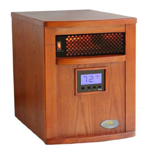 Heat Smart SSG1500-CDW-KC Victory Quartz Infrared Heater, Oak