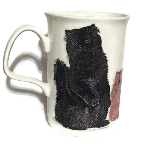 (Cat Lovers Fine Bone China Coffee Mug - Black)