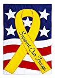 Evergreen Support Our Troops Applique House Flag, 29 x 43 inches Review