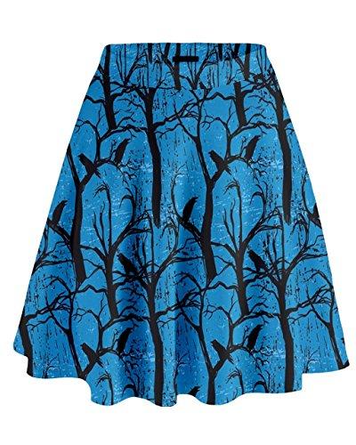CowCow - Falda - para mujer azul celeste