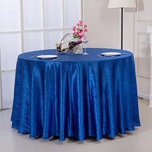 Lino Mantel Banquete Restaurante Royalblue Redondo Color Slido XZW tablecloth Hotel Mantel De IYBYA4q